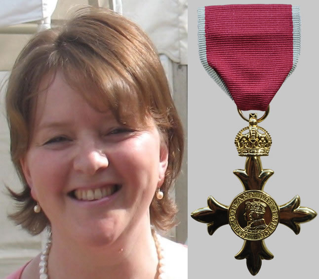 Previous Student Amanda Mordey (nee Jenkins) receives OBE